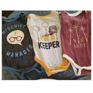 Harry Potter Long Sleeved Bodysuit Set